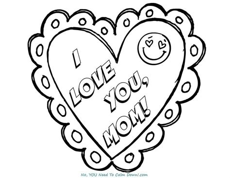 Coloring For You by I You S Day Coloring Page Free