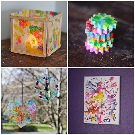 recycled arts and crafts ideas 4 ways to recycle crayon bits 183 kix cereal 7089
