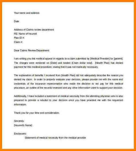 letter  appeal  consideration appeal letter