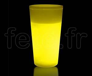 Verre Lumineux Fluorescent Jaune Fetefr
