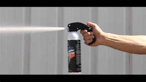 test réel bombe lacrymogène 500ml gel arme de défense