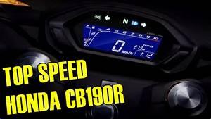 Top Speed Honda Cb190r