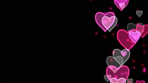 romantic rose petals heart  black background alpha
