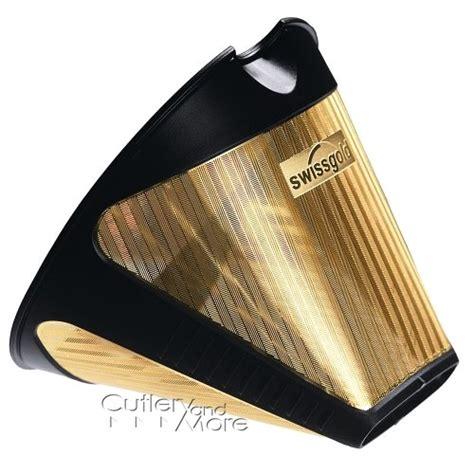 swissgold gold foil  coffee maker filter cutlery