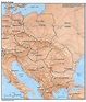 large-political-map-of-Eastern-Europe-with-relief-capitals ...