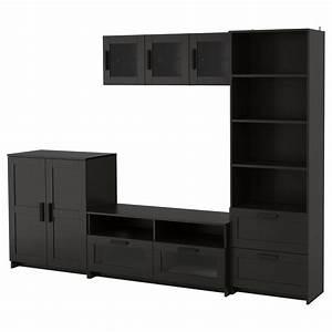 BRIMNES TV Storage Combination Black 260 X 41 X 190 Cm IKEA