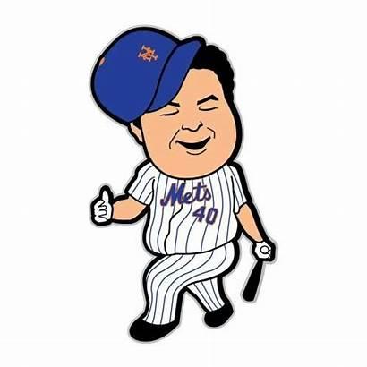 Mets York Clipart Baseball Colon Chibi Ny