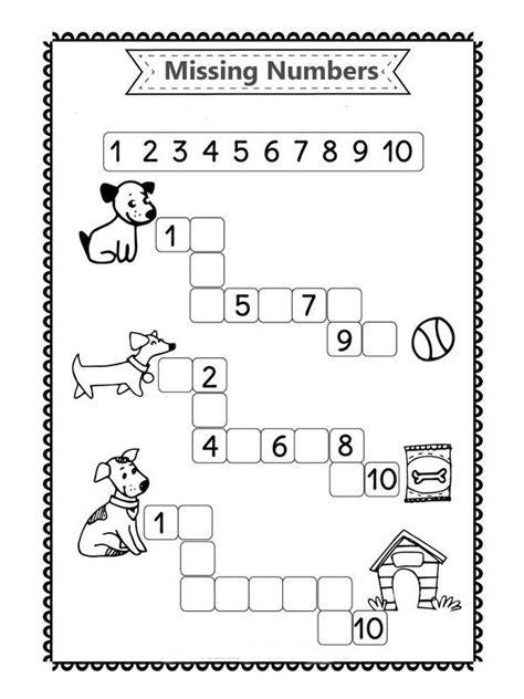 number worksheets  kindergarten