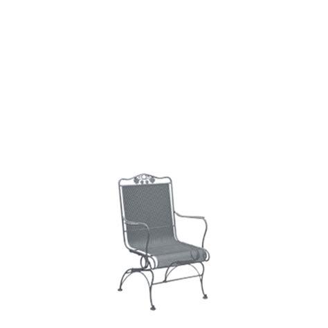 woodard 400066 briarwood high back coil chair