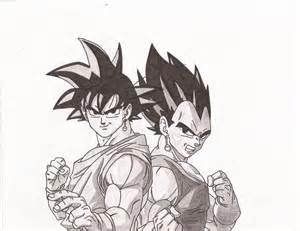 Black Goku and Vegeta Drawing