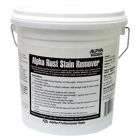 alpha 5 lb rust stain remover for contractors direct