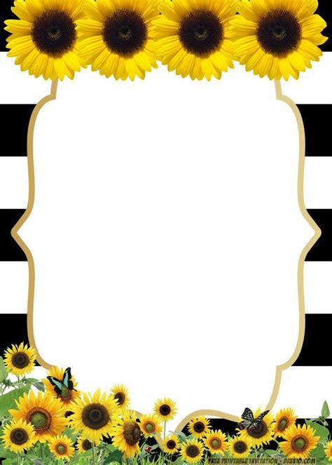 printable sunflower birthday invitation templates