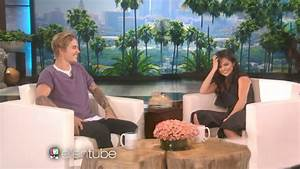 Justin Bieber And Selena Gomez on Ellen 2017 - YouTube