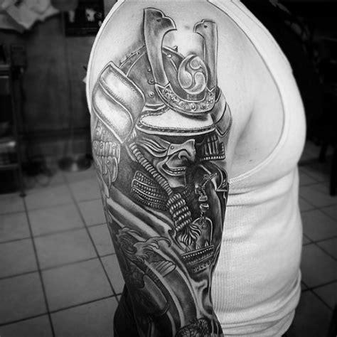japanese samurai mask tattoo designs  men