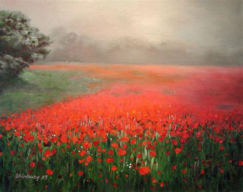 poppy field painting poppy field painting poppy