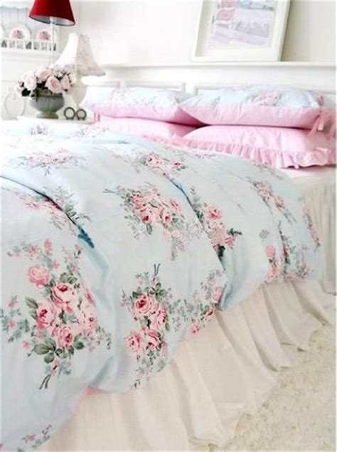 shabby chic bedding in blue gt cheap shabby and elegant blue rose pink gingham 4pc bedding set queen home kitchen for