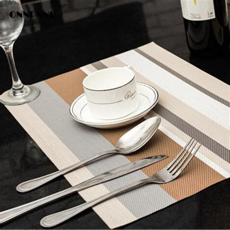 Dining Table Place Mats - 4pcs lot 5 color dining table mat pvc placemat waterproof