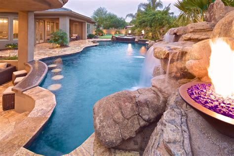 pool slides for inground custom spas jacuzzis whirlpools photo gallery