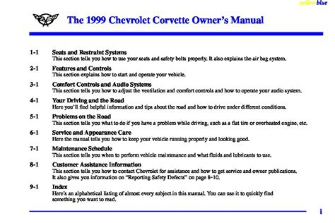 service repair manual free download 1999 chevrolet corvette on board diagnostic system 1999 chevrolet corvette owners manual just give me the damn manual