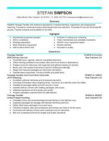 material handler resume exle resume material handler free resume templates