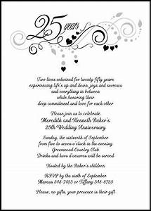customize and then instantly preview your embellished 25th With sample of 25th wedding anniversary invitations