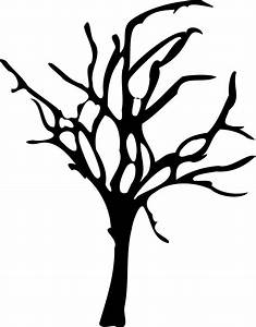 Clipart - Halloween Small Dead Tree