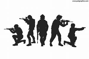 Soldiers silhouettes vector | PSDGraphics