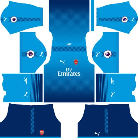 Arsenal Kits & Logo URL Free Download - Dream League Soccer 2017/18