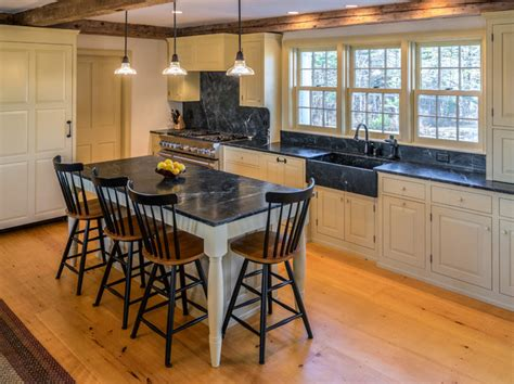 Midcoast Maine Soapstone Kitchen