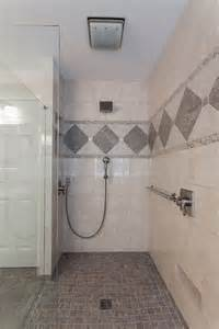 handicap accessible bathroom design curbless shower design lou vaughn remodeling