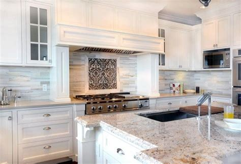 Backsplash Ideas For White Cabinets by Enviable Designs Kitchens White Shaker Kitchen