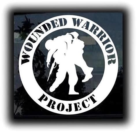 wounded warrior project military decals http