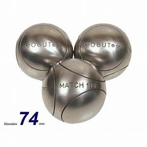 Boule De Petanque Inox : boules de p tanque match inox 74 mm prix pas cher ~ Premium-room.com Idées de Décoration