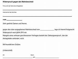 Widerspruch Rechnung Frist : mahnbescheid widerspruch vorlage download chip ~ Themetempest.com Abrechnung