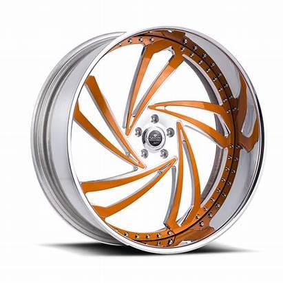 Wheels Savini Lazio Diamond Orange Chrome Brushed