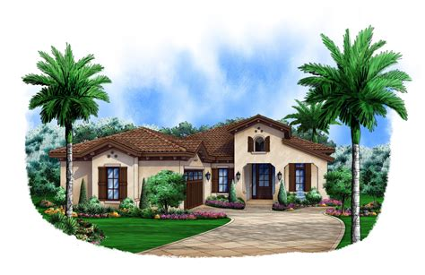 spanish house plan    bedrm  sq ft home theplancollection