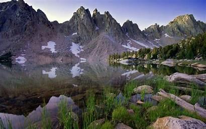 Water Scenery Lake Nature Grass Reflection Mountains