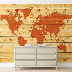 Carte Du Monde En Bois : planches de bois de carte du monde poster mural papier peint acheter le sur ~ Teatrodelosmanantiales.com Idées de Décoration