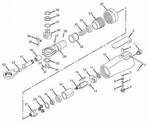 Chicago Pneumatic Cp7824 3  8 U0026quot  Air Ratchet Repair Parts