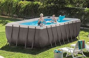 Piscine Tubulaire Intex : piscine tubulaire rectangulaire intex 4 57x2 74x1 22 m ~ Nature-et-papiers.com Idées de Décoration