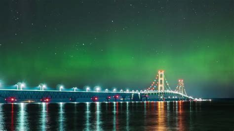 northern lights in michigan the northern lights above michigan s mackinac