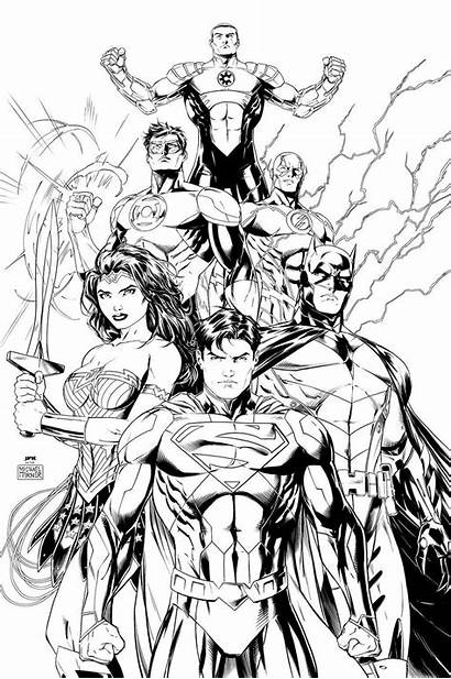 Justice League Coloring Pages Drawing Superhero Avengers