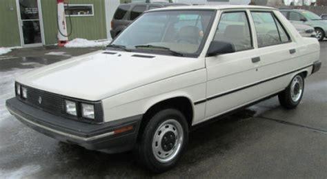 1984 renault alliance 17k mile 1986 renault alliance bring a trailer