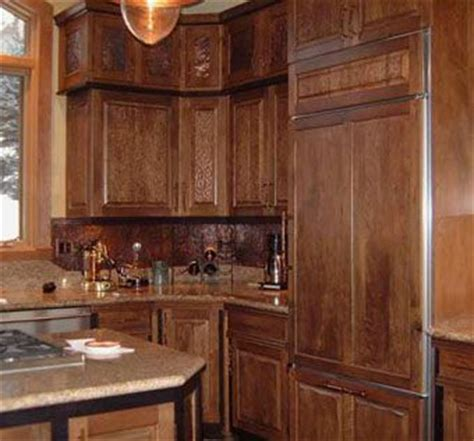 Handmade Custom Cherry Kitchen Cabinets With Copper