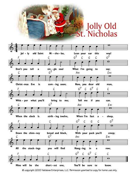 Jolly Old Saint Nicholas Sheet Music