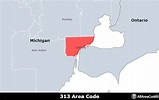 313 Area Code - Location map, time zone, and phone lookup