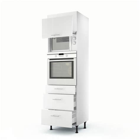 cuisine avec colonne meuble de cuisine colonne blanc 2 portes 3 tiroirs h