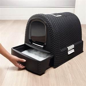 Litiere Chat Sans Odeur : curver maison de toilette pour chat anthracite maison ~ Melissatoandfro.com Idées de Décoration