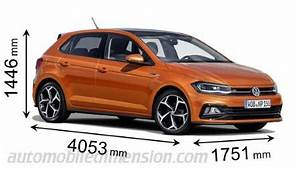Dimension Nouvelle Polo : dimensions of volkswagen cars showing length width and height ~ Medecine-chirurgie-esthetiques.com Avis de Voitures