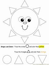 Shapes Circles Triangles Preschool Tracing Coloring Worksheets Kidzone Activities Kindergarten Pages Printable Ws Triangle Shape Worksheet Learning Prek Practice Lots sketch template